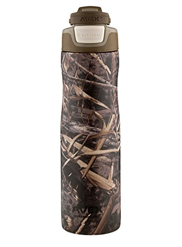 Avex Brazos Auto Seal Stainless Steel Insulated Water Bottle, Real Tree Camo, 24 oz.