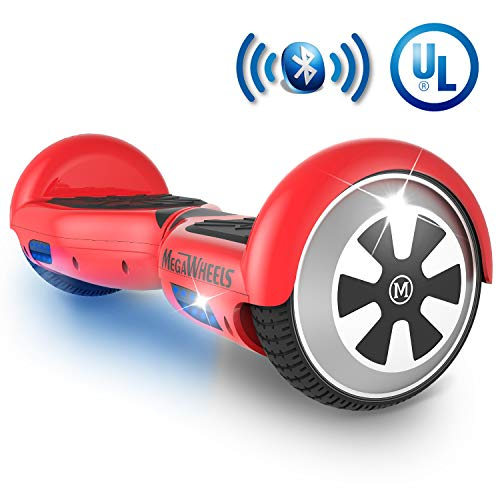 MEGAWHEELS Hoverboard – UL Certified Self Balancing Hover Board with Bluetooth Speaker & LED Light
