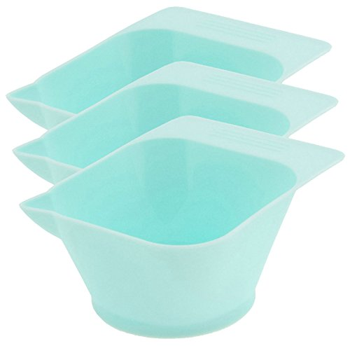 Price comparison product image Icarus Blue Tint Bowl with Rubber Grip Bottom - 3 ct
