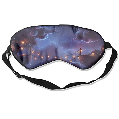 WUGOU Sleep Eye Mask Abstract Animated Bridges Lightweight Soft Blindfold Adjustable Head Strap Eyeshade Travel Eyepatch -