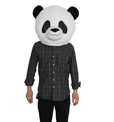 Plush Panda Animal Head Mask Halloween Panda Mascot Costume ()