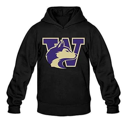 5JC Washington Huskies W Logo Men's Pullover Hoodie Sweatshirt