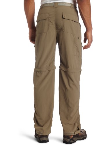 White Sierra Men's Trail 32-Inch Inseam Convertible Pant, X-Large, Bark