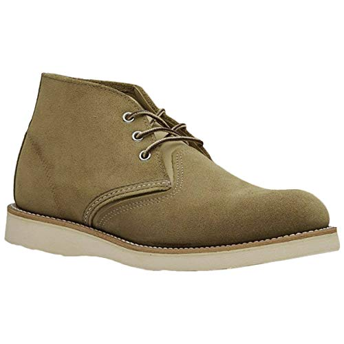 Red Wing Mens Classic Chukka Leather Olive Boots 10.5 US (Red Wing Chukka)