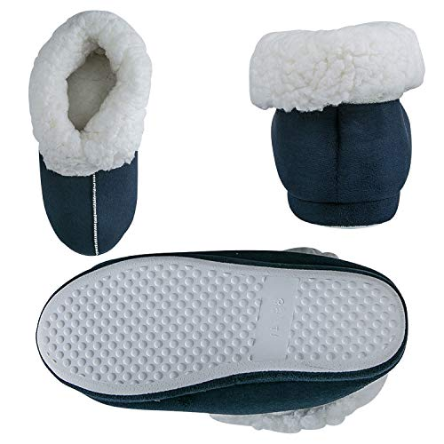 Men Women Men Warm Blue Indoor Slippers Boots Memory Slippers Slipper Women for Foam JACKSHIBO HqCPSq
