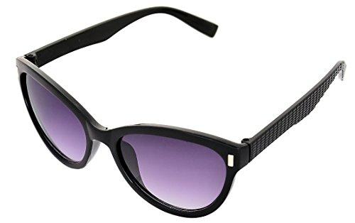 SHVAS UV Protection Cat Eye Womens Sunglasses [CATESTEEMBLACK]