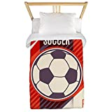 Twin Duvet Cover Soccer Football Play The Game Red