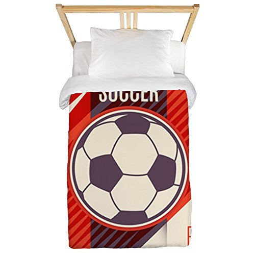 Twin Duvet Cover Soccer Football Play The Game Red by Royal Lion
