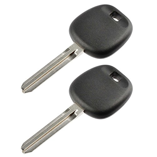 Uncut Transponder Ignition Key fits Toyota with 4C Chip, Set of 2 ()
