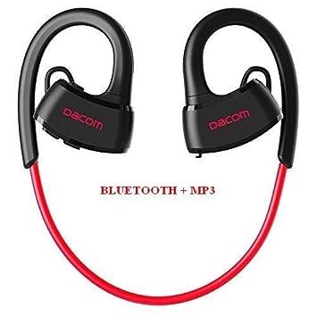 Auriculares deportivos EMEBAY con Bluetooth 4.1, IPX7 impermeable, inalámbrico, para correr, natación, buceo, Dacom P10 Red Upgrated + MP3: Amazon.es: ...