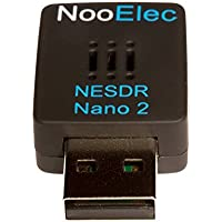 NooElec NESDR Nano 2 - Tiny Black RTL-SDR USB Set (RTL2832U + R820T2) with MCX Antenna and Remote Control; Software Defined Radio, DVB-T and ADS-B Compatible, ESD Safe