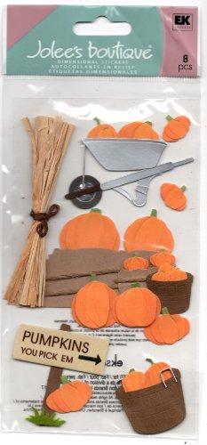 JOLEES Boutique Le Grande Dimensional Sticker - Pumpkin Pickin'
