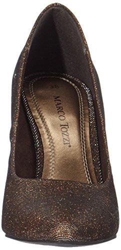 Marco Tozzi - Zapatos de vestir de tela para mujer Marrón (Bronze Metall. 968)
