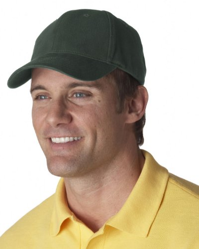 Ultraclub 8110 UC Brushed Solid Cap - Forest Green - One ()