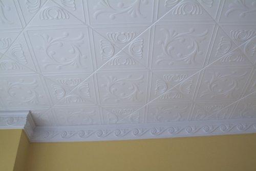 Anet White Styrofoam Ceiling Tiles For Glue Up Application