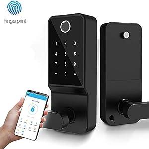 COOLOUS Keyless Entry Door Lock, Keypad Door Lock, Keyless Door Lock, Fingerprint Door Lock, Biometric Door Lock, Keypad… Doors