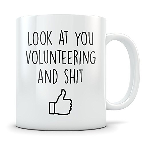 Volunteer Appreciation Gift for Men and Women - Funny Volunteering Coffee Mug as a Thank You for Your Time - Gag Idea for Any Appreciated Volunteer -