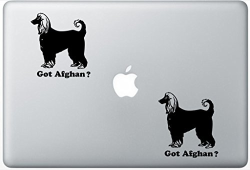 Got Afghan Afghan Hound Dog Decal PetsAffectionLaptop0173 Set Of Two (2x) , Dog Decal , Sticker , Laptop , Ipad , Macbook