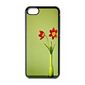 XiFu*Meiiphone 4/4s Case, Funny Red Flowers 2 Case for iphone 4/4sXiFu*Mei