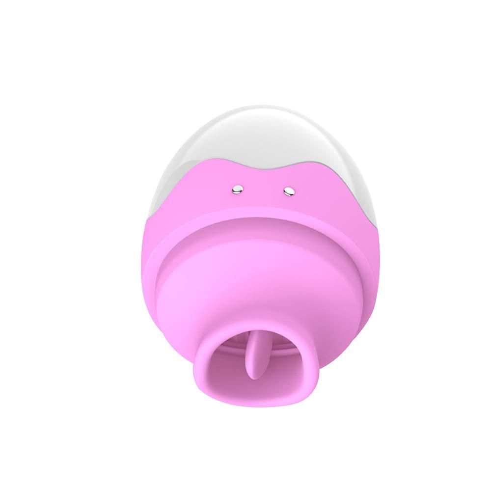 SEYXX Succión Vibrador Huevo Coño Licker Pezón Vagina Clítoris Estimulador Masajeador Pezón Licker Lechón Lengua Vibrador Juguetes Sexuales para Mujer,Purple-M 133225