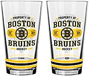 The Sports Vault NHL Boston Bruins Property of Mixing Glass, 2-Pack, Team Color GMGNHL0356 One Size