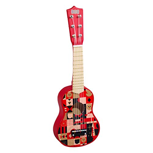 - FAO Schwarz Natural Wood Red Acoustic Music Toy Guitar for Children 3+ Years