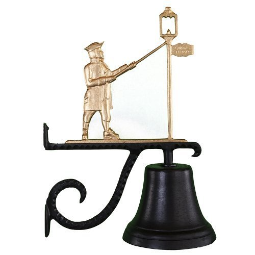 Montague Metal Products Cast Bell with Gold Lamplighter by Montague Metal Products by Montague Metal Products