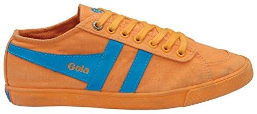 Gola Womens Quota Neon Canvas Fashion Sneaker Neon Orange/Neon Blue Epxykn