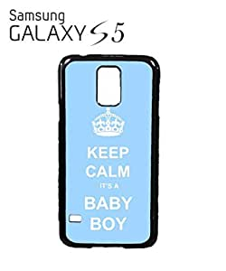 Keep Calm it is a Boy Mobile Cell Phone Case Samsung Galaxy S5 Black