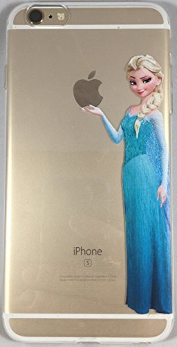 Favorite Character Cases iPhone 6 Plus and 6s Plus From Your Favorite Shows and Movies! Clear Flexible Silicone (Elsa 2)