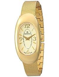 Grovana Women's 4416-1111 Ladies Dress line Analog Display Swiss Quartz Gold Watch