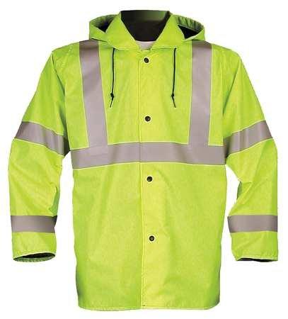 Jacket w/Hood, Hi-Vis Yellow/Green, 3XL