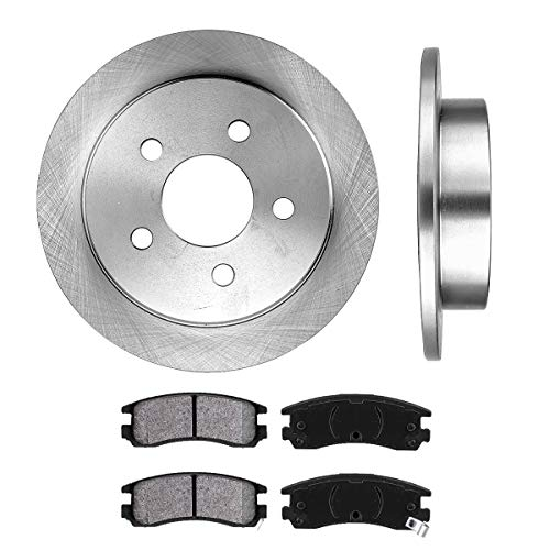 REAR 278 mm Premium OE 5 Lug [2] Brake Disc Rotors + [4] Metallic Brake Pads ()