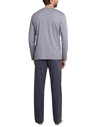 Anzug LangEnsemble Schiesser Homme Grauanthrazit 203 De Pyjama Ygby76f