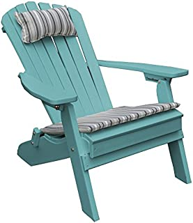 product image for Poly Folding and Reclining Fanback Adirondack Chair - Aruba Blue