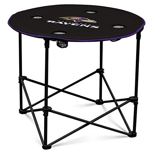 Baltimore Ravens  Collapsible Round Table with 4 Cup Holders and Carry Bag]()