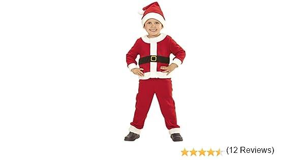 WIDMANN Papá Noel niño Disfraz de 110 cm Padre Papá Noel: Amazon ...