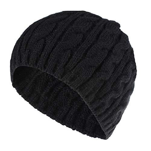 Kolylong Winter Hat Women Keep Warm Winter Casual Knitted Hat Wool Hemming Hat Ski Hat