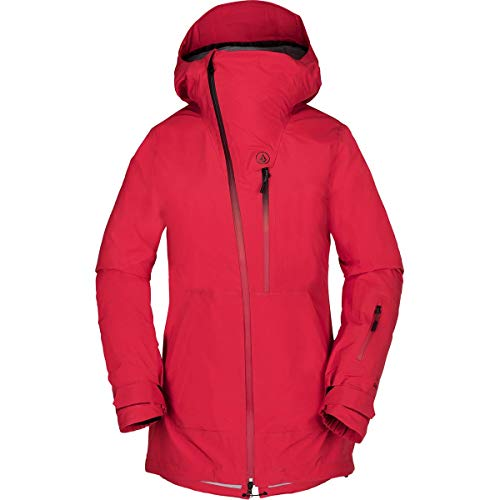 Volcom Women's NYA Thermal Defense Gore-Tex Snow Jacket, Crimson, Extra Small