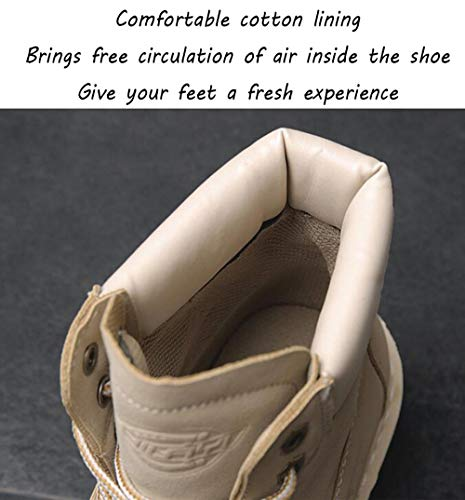 b1e5a954cda8a Beige Mens Dealer Boots Skidproof Martin Ankle Casual Sole Safety ...