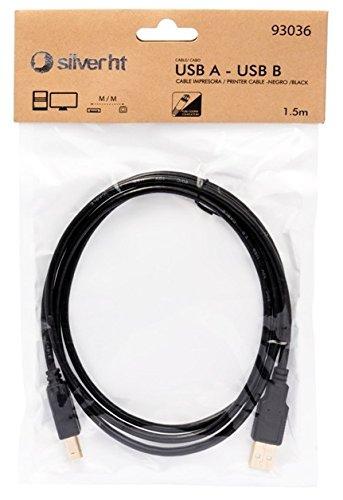 Silver HT 93037 - Cable impresora USB tipo A y B de 3 m ...