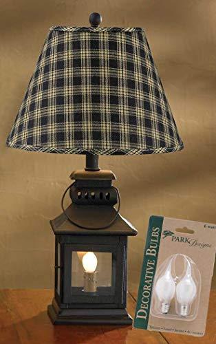 Park Designs Iron Lantern Lamp with Night Light, Sturbridge Black 12