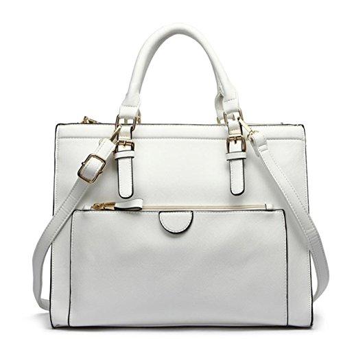 Women's Messenger Designer White Tote Grab Fashion Cws00366 Trendy Ladies Pocket Shoulder Quality cream Handbag Front Bags BdfHcwq
