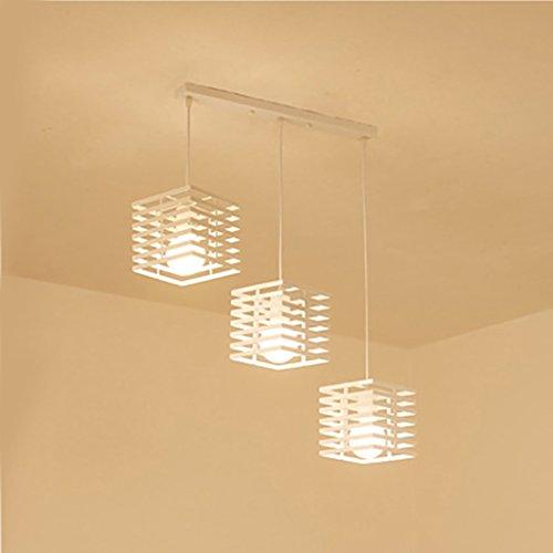 LOFT Retro Chandelierloft hierro restaurante chandelier dormitorio luz industrial estilo araña ( Color : Blanco , Tamaño :...