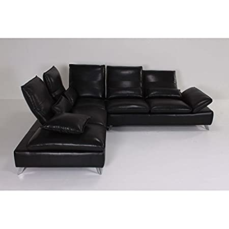 100% Made In France Left Corner Sofa ANNABELLE Thick Leather 1567