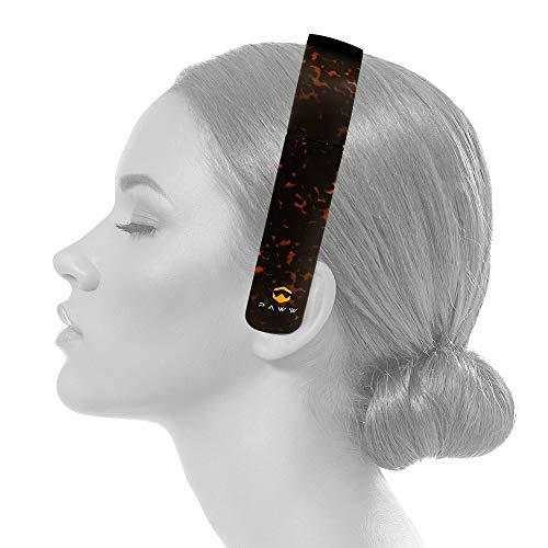 PAWW PW-2018SS01-BR SilkSound Bluetooth Headband Over-Ear Headphones with Microphone (Tortoiseshell)
