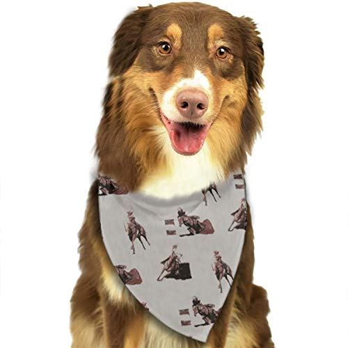 Dog Bandana Barrel Racing Triangle Bibs Scarf Printing Kerchief Set Accessories Dogs Cats Pets