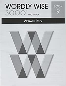 wordly wise 3000 book 9 answer key booklet systematic academic