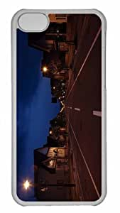 Customized iphone 5C PC Transparent Case - Street City Personalized Cover