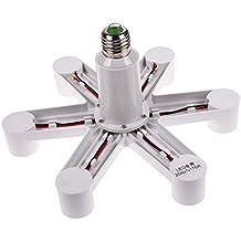 LingStar 1 To 7 E27 LED Lamp Bulbs Socket Splitter Adapter Holder Base For Photo Studio Home Building Party
